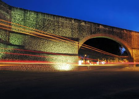 constructed: The Los Arcos (aqueduct) in Queretaro, Mexico.  Constructed between 1726 and 1735.