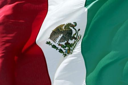 メキシコの旗のクローズ アップ。