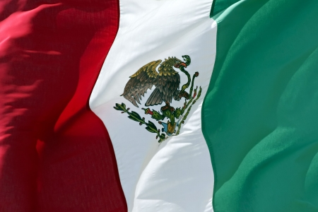 Close up of Mexican Flag. photo