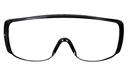 Foto Blak Schutzbrille isoliert auf weißem Hintergrund, close up volles Gesicht