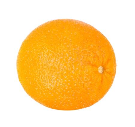 citrous: still life single yellow orange; close up, on white background, isolated