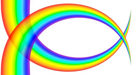 spectra: beautiful background of multicoloured rainbow, on white background, isolated