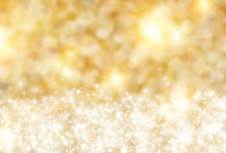 festal: the beautiful holiday abstract gold  background  with  shining sparklets Stock Photo