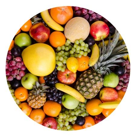 citrous: still life of big  heap multi-coloured fruits, figure  circle Stock Photo