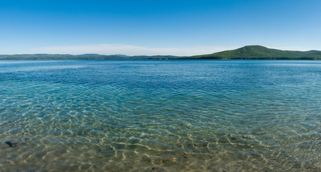 beautiful  landscape  pond or sea  bay with clean transparent azure water Stock Photo - 16579018