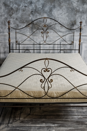 back double bed forged of rod,  close up, vertical photo Stock Photo - 24829638