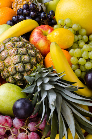 still life of big  heap multi-coloured fruits,  background photo