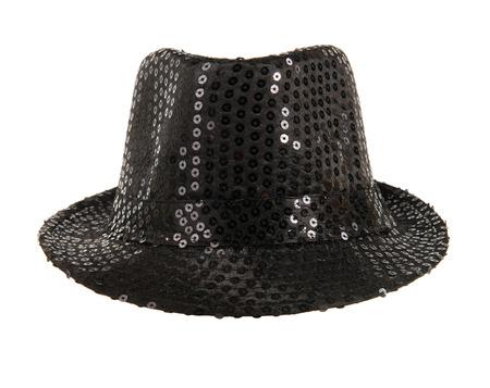 smartly: one festively shining black hat Stock Photo