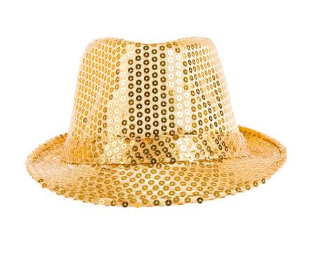 smartly: one festively shining gold hat