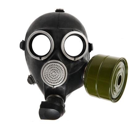 gasmask: the black gas-mask close up