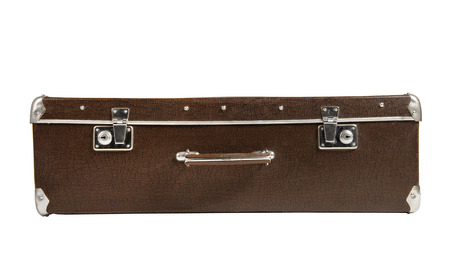 rarity: rarity brown leather suitcase in the lying position