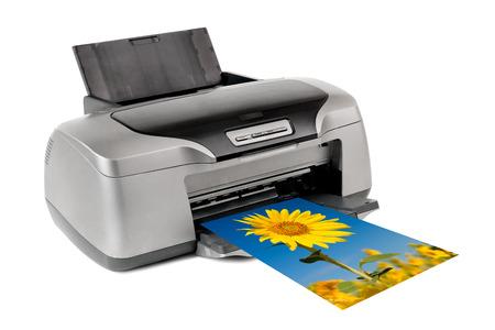 photo inkjet printer, on white background; isolated  Stock fotó
