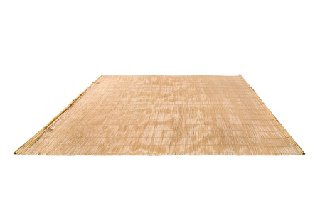 bamboo mat: mat of  bamboo twig, on white background; isolated Stock Photo