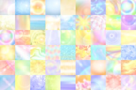 square image: pastel multicolored background of abstract square, horizontal image