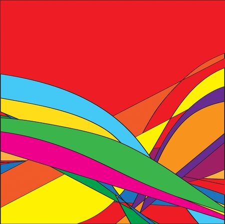 many coloured: the beauty  bright multicoloured background, square  illustration
