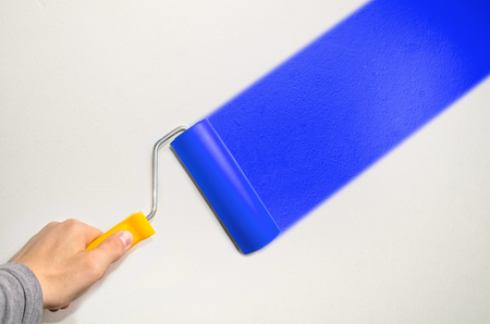 paint wall: hand hold roll tool for painting or burnishing , finishing work
