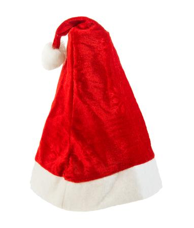 festal: single Santa Claus cap, on white background; isolated