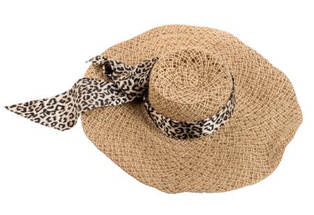 straw hat, mushroom, on white background; isolated Stock Photo