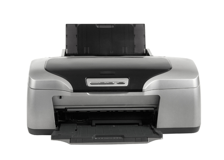 inkjet printer: photo inkjet printer, on white background; isolated