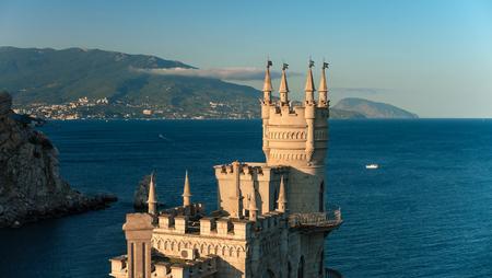 swallows nest castle on peninsula Crimea, horizontal photo