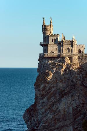 swallows nest castle on peninsula Crimea, vertical photo