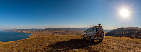 Beauty nature landscape Crimea , traveling off-road on car and freedom (liberty) concept, horizontal photo