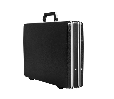 black suitcase for money, on white background; isolated
