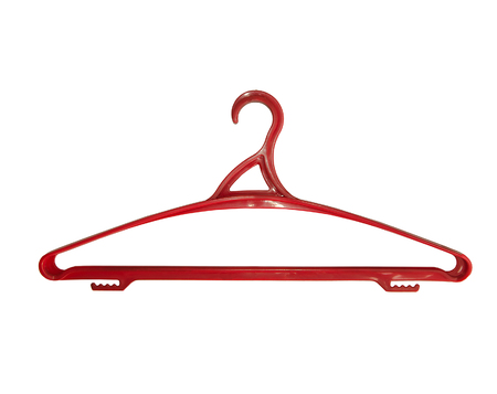 one clotheshanger on white background, isolated Reklamní fotografie