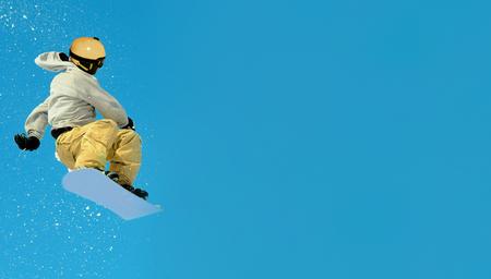 snowboarder extreme jump,  snowboarding sport Reklamní fotografie - 118713395