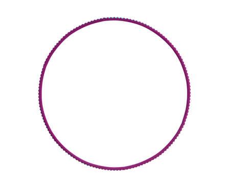 one hoop for fitness on white background, isolated Reklamní fotografie