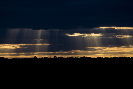 st kilda: the light of the god Stock Photo