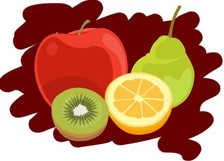 mezcla de frutas: Frutas Vectores