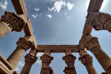 Trajan kiosk, Philae temple in Egypt. Reklamní fotografie