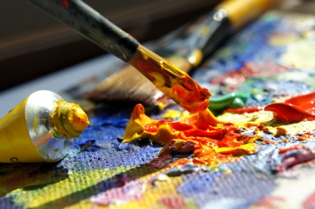 Art palette Stock Photo - 13783065