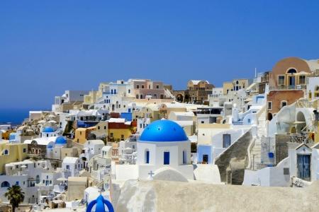 Erstaunlich weißen Häuser von Santorini Lizenzfreie Bilder
