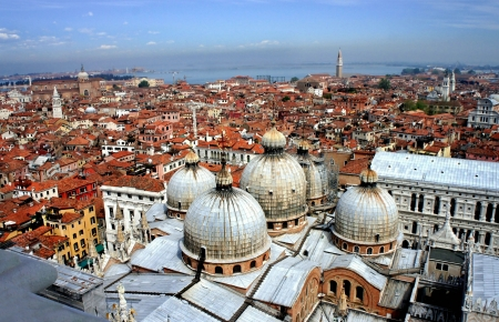 Venice roofs in summer, Italy photo