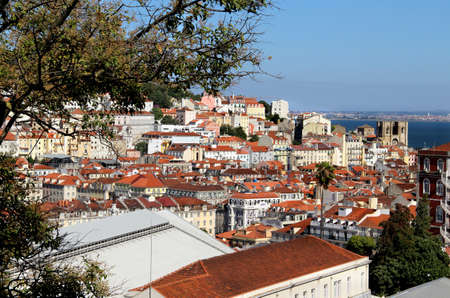 Lisbon panorama, Portugal � buildings, roofs, churches photo