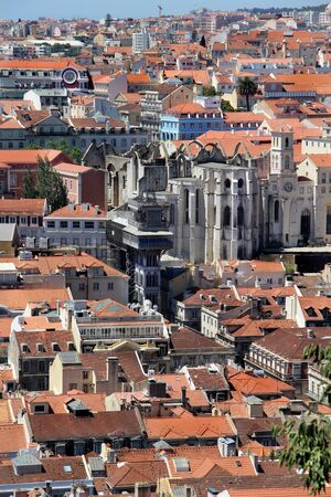 Lisbon panorama, Portugal – buildings, roofs, churches photo