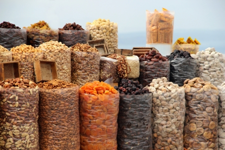 Big variation of Dried fruits and nuts