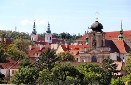 Unusual beautiful view of Prague monastery  photo