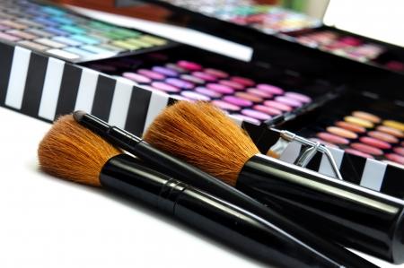 Big set of professional cosmetic