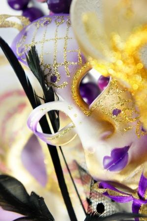 Beautiful Venetian carnival masks  Stock Photo