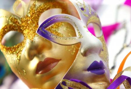 美しいベネチアン ・ カーニバル マスク 写真素材