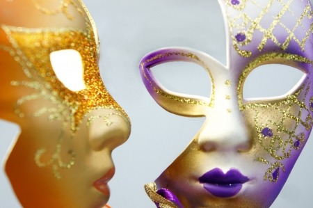 Beautiful Venetian carnival masks   photo