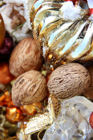 Big mix of Christmas decorations and nuts  Stock Photo - 15869740