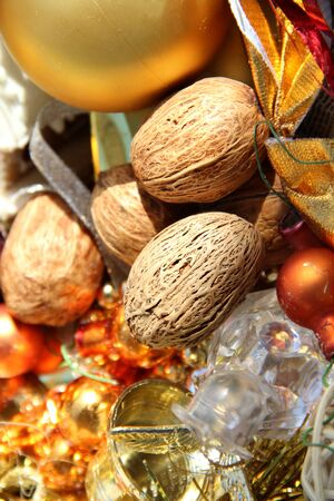 Big mix of Christmas decorations and nuts  Stock Photo - 15869743