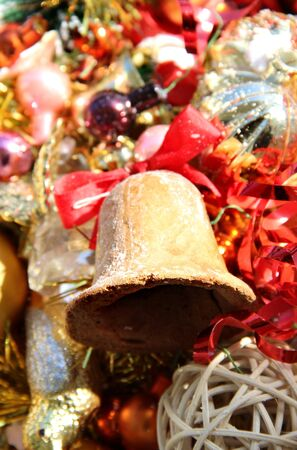 Big mix of Christmas decorations and bells Stock Photo - 15814359