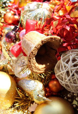 Big mix of Christmas decorations and bell Stock Photo - 15814375