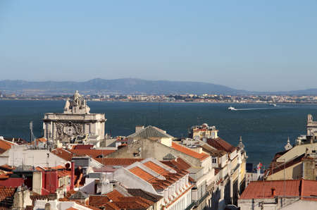 Lisbon panorama, Portugal  buildings, roofs, churches photo