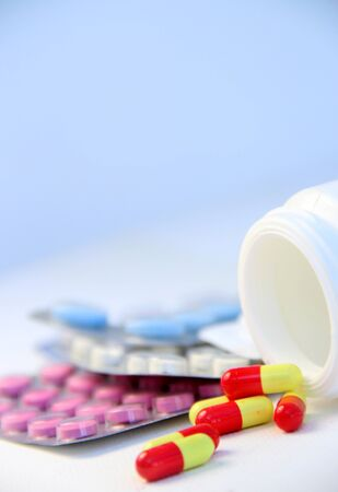 Mix of pills and tablets  photo